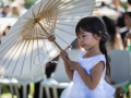 Aberville Estate Wedding - Flower girl with umbrella