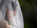 Bride behind the veil